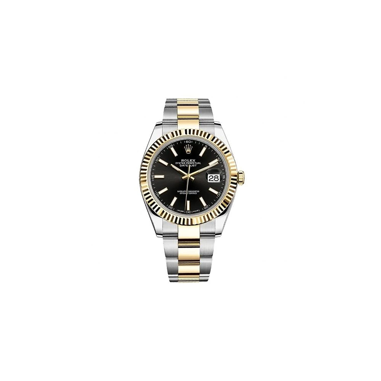 Rolex Datejust 41ブラックダイヤルスチールと18 K黄色ゴールドオイスターメンズ時計12633bkso B01LXAA2YM