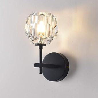 Cristal Lámpara de pared G4, moderna decorativa cristal lámpara de ...