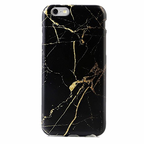 Black Marble Custom Laser (Marble iPhone 6 6s Case Protective Phone Marble (black gold))