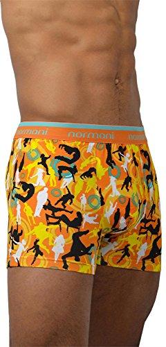 4 x Herren Unterwäsche Boxershorts original normani® Exclusive Farbe Dance and Style/Orange Größe XXL