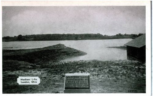 1950 Postcard - Photo Reprint Madison Lake, London, Ohio 1941-1950