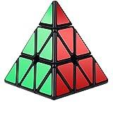 Vdealen Pyraminx torcedura Puzzle Cube,Negro