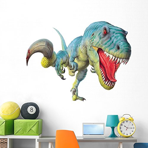 (Utahraptor Hunt Wall Decal by Wallmonkeys Peel and Stick Graphic (60 in W x 45 in H) WM61299)