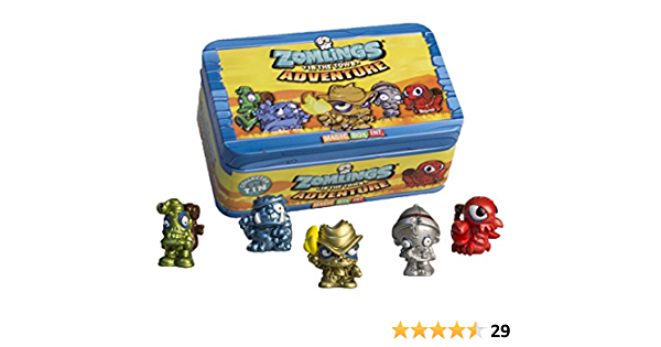 Zomling Adventure Tin - 5 Figures & Tin, Series 1 by Zomlings: Amazon.es: Juguetes y juegos