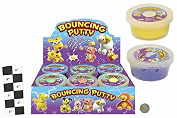 Neon Colour Bouncing Putty Pack Of 4 Randomly Selected From 5