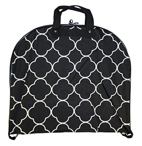 Ever Moda Moroccan Hanging Garment Bag (Black)