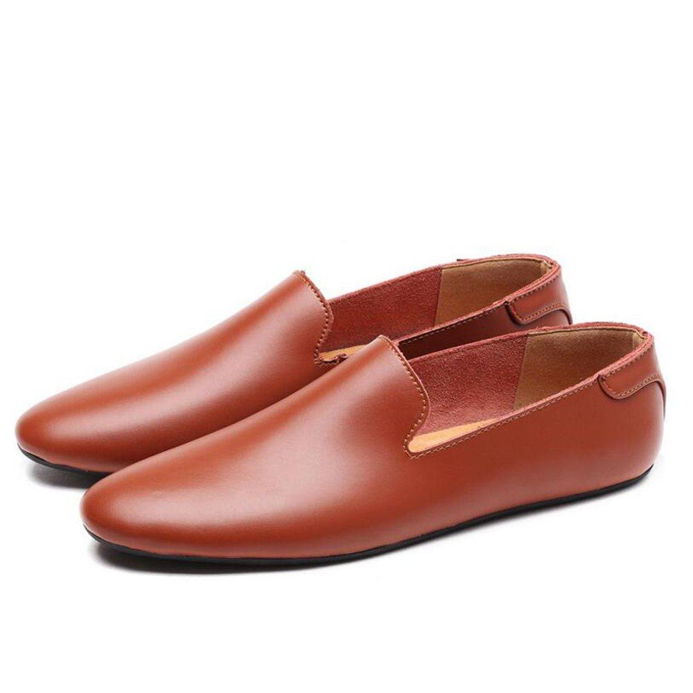 GAOLIXIA Sommer lederne beiläufige Schuhe der Männer Arbeiten Geschäfts-Müßiggänger-Schuhe Mokassins-Schuhe Männer PU-lederne zufällige Faule Schuhe Bean's Schuhe der Männer