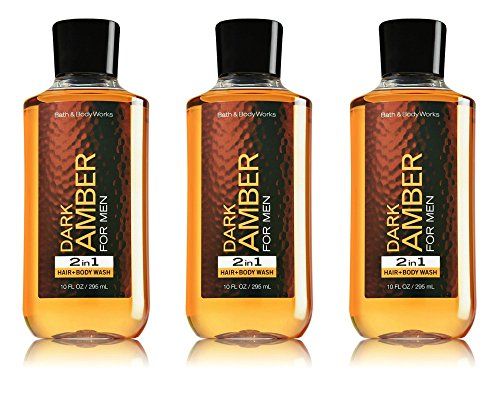 Bath and Body Works Dark Amber Hair and Body Wash 3 Pack