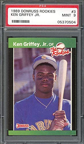 - 1989 donruss rookie #3 KEN GRIFFEY JR seattle mariners rookie card PSA 9 Graded Card