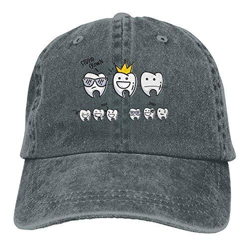 JHDHVRFRr Hat Cute Teeth Denim Skull Cap Cowboy Cowgirl Sport Hats for Men Women