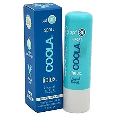Coola Suncare Liplux Sport Peppermint and Vanilla Lip Balm Sunscreen, SPF 15