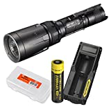 Cheap Nitecore Rechargeable Bundle SRT7GT 1000 Lumens Smart Ring Tactical Flashlight with Red/Blue/Green/UV LEDs – UM10 USB Charger Set and LumenTac Battery Organizer – SRT7 Upgrade