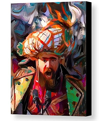 Framed Philadelphia Eagles Jason Kelce Super Bowl 52 8.5X11 Art Print Limited Edition w/signed COA