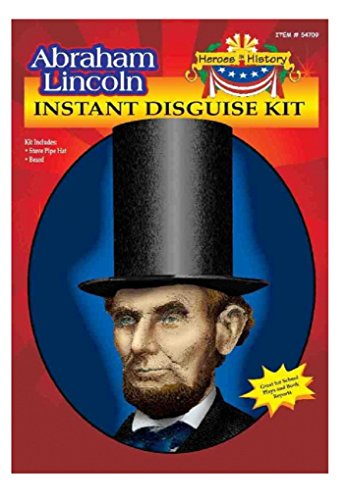 Child Heroes in History Instant Disguise Kit - Abraham Lincoln - Hat and Beard - Lincoln Hat With Beard