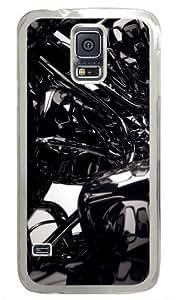 3D Black Custom Samsung Galaxy S5 Case and Cover - Polycarbonate - Transparent