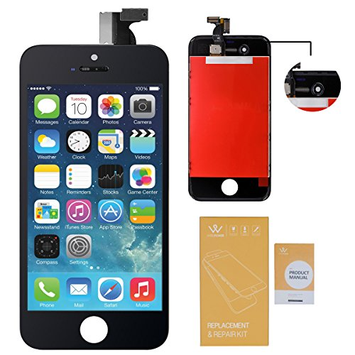 WEELPOWER LCD Touch Screen Digitizer Glass Replacement Assembly for iPhone 4S with Repair Tool (Black)