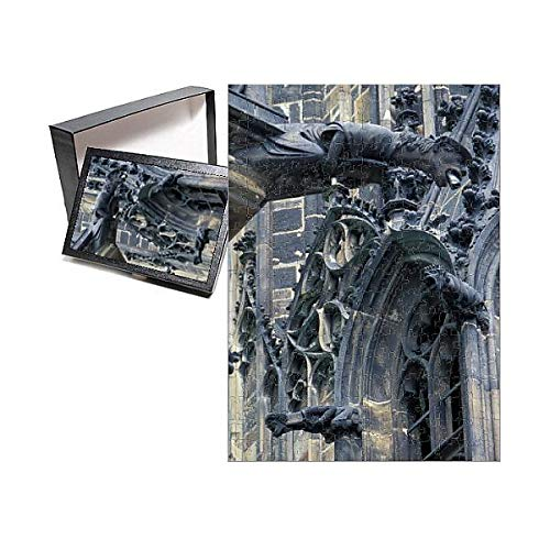 Media Storehouse 252 Piece Puzzle of Europe, Czech Republic, Prague, Castle Detail and Gargoyles (11124836)
