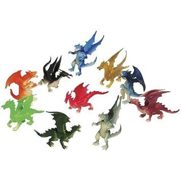 Fantasy Based Pretend Play Is >> Amazon Com 2 Dozen 24 Mini Dragon Toy Figures 2 Party Favors