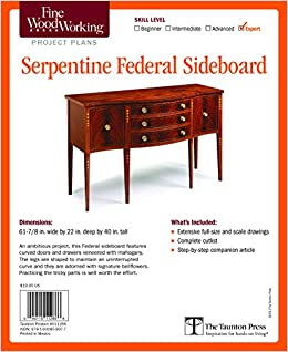Fine Woodworking S Serpentine Federal Sideboard Plan Editors Of
