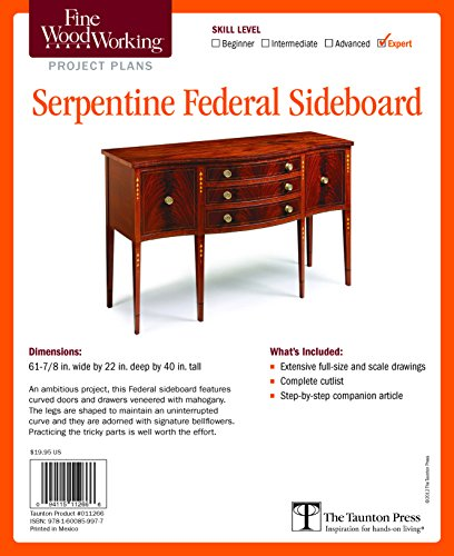 Plan Sideboard - Fine Woodworking's Serpentine Federal Sideboard Plan
