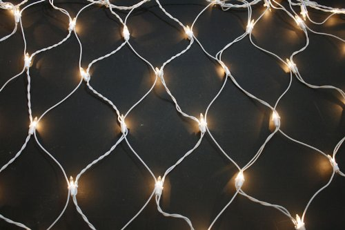 Wire 150 Light Net - Wedding Net Lights, 4 ft x 6 ft, 150 Clear Lights, White Wire - Sival