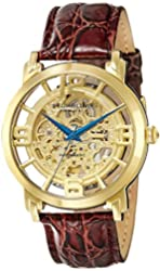 Stuhrling Original Men's 165B.3335K31 Classic Winchester Grand Automatic Skeleton Gold Tone Watch