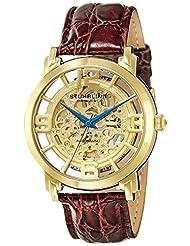 Stuhrling Original Stuhrling Original Men's 165B.3335K31 Classic Winchester Grand Automatic Skeleton Gold Tone Watch