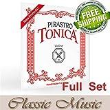 Classic Music Pirastro Tonica Violin Strings Full Set 4/4 Ball End