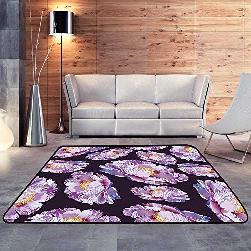Printed Carpet,Paeonia suffruticosa Peony Ornament flowerW 59