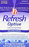 Refresh Optive Lubricant Eye Drops Single Use Vials, 60 EA