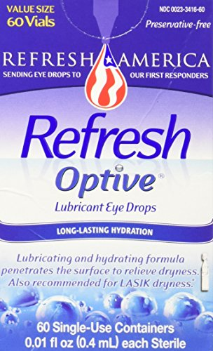 Refresh Optive Lubricant Eye Drops Single Use Vials, 60 (Sensitive Lubricant Eye)
