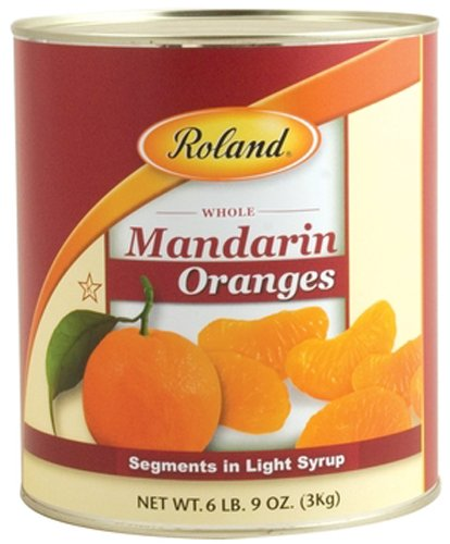 Roland Mandarin Oranges, Segments in Light Syrup, 105 Ounce (Pack of 6)