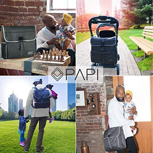 CleverPapi Mens Baby Diaper Bag w Changing Pad - Baby Messenger ... 0fb5b85b02eef