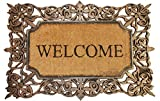 Outdoor Welcome Mat, Made from Coir and Rubber, Heavy Duty, Strong Rubber Backing, Prevents Skidding, 22x34