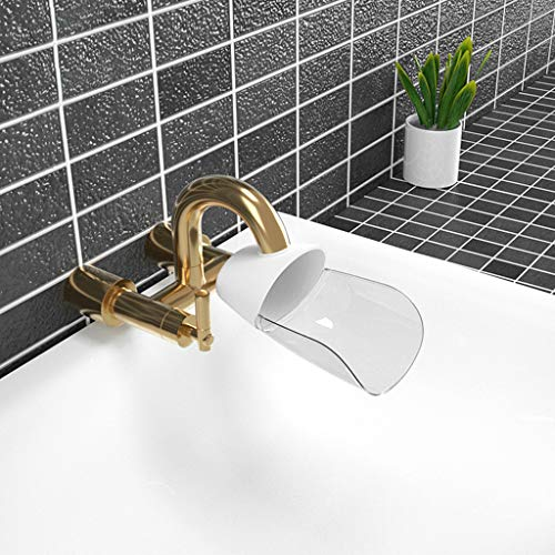 Tuscom Faucet Extender, Sink Handle Extender, Faucet Cover, Kitchen, Tub & Bath Faucet Extenders, Hand Washing Faucet Extensions for Babies, Toddlers & Kids (White)