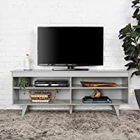 WE Furniture 58-inch Wood Simple Contemporary Console Grey