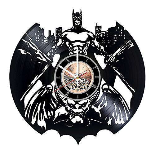Batman Vinyl Record Wall Clock – Living room or Home room wall decor – Gift ideas for men and women, boys – Superhero Movie Unique Art Design