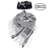 """iMucci 43""""x43"""" Arab Tactical Scarf 100% Cotton - with Magic Bandanas Desert Shemagh Military Keffiyeh Head Neck Wrap Scarfs for Men and Women (6 Colors)"""