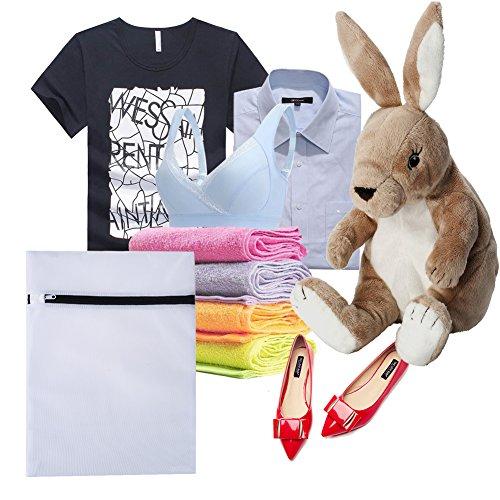 uarter lavandería bolsas, bolsas de malla de lavado Red con cremallera para ropa delicada sujetador ropa interior lavadora, pack de 6: Amazon.es: Hogar