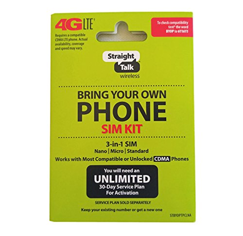 Straight Talk Verizon 4G LTE Compatible Nano SIM Card. Fits Verizon iPhone 5/5s/5c/6/6+ - Sim Iphone 5