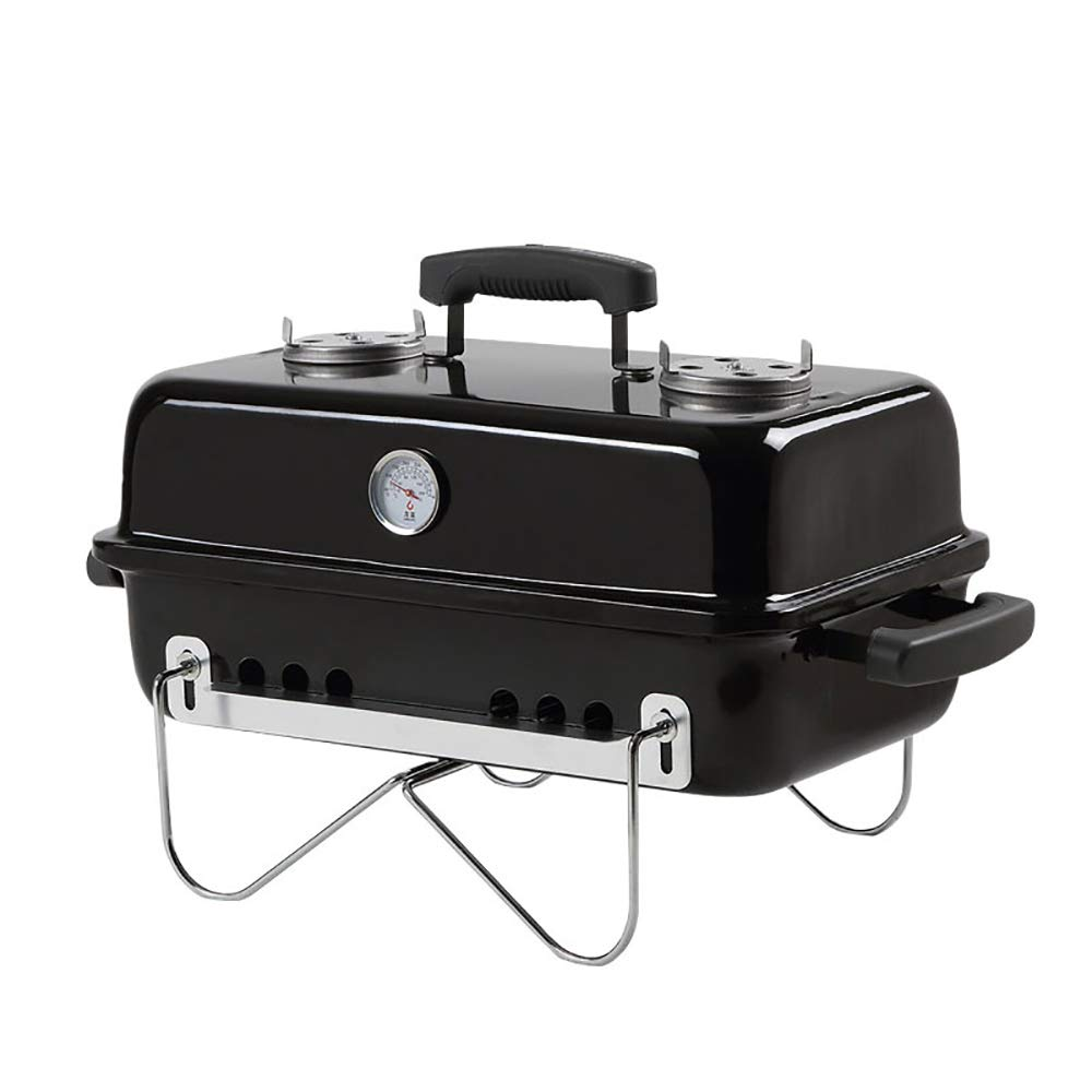 Folding Charcoal Grill, Enamel BBQ Grill, Portable Outdoor Barbecue Griddle Cooking Appliance for Camping, Tailgating, Backpacking, Hiking, Picnic,Red by HSRG