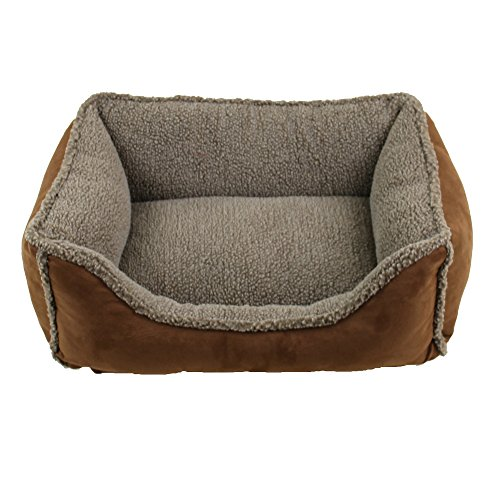 Faux Suede & Tipped Berber Rectangle Comfy Cup (S, (Berber Comfy Cup)