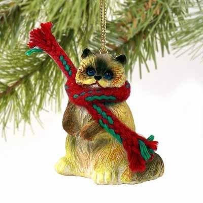 Rag Doll Cat Ornament - 1 X Ragdoll Cat Tiny Miniature One Christmas Ornament - DELIGHTFUL!