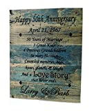 Cheap Forever Me Gifts Anniversary Wood Plaque Blue Weathered Design (Any Year) Personalized