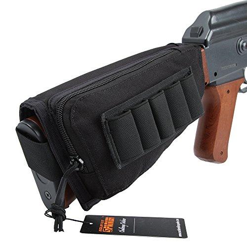 EXCELLENT ELITE SPANKER Tactical Nylon Buttstock Bullet Bag 14 Shell(Black)