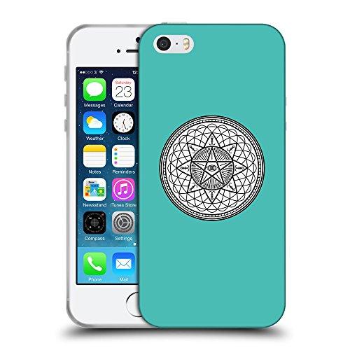 GoGoMobile Coque de Protection TPU Silicone Case pour // Q09710634 Mystique occulte 20 Turquoise // Apple iPhone 5 5S 5G SE
