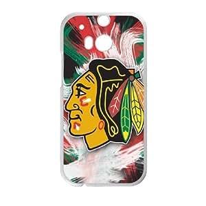 HTC One M8 Chicago Blackhawks Logo pattern design Cell Phone Case HJCBL1269340