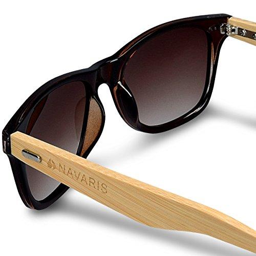 UV400 bois femmes Navaris soleil couleurs Branches étui en Marron Lunettes En différentes bambou de en bois hommes Lunettes BnX0trXx