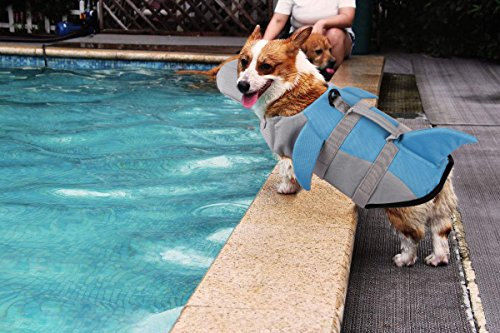 Image of PETCEE Hunting Dog Life Jacket Quick Release Easy-Fit Adjustable Life Jackets for Small Dogs (Blue, S)