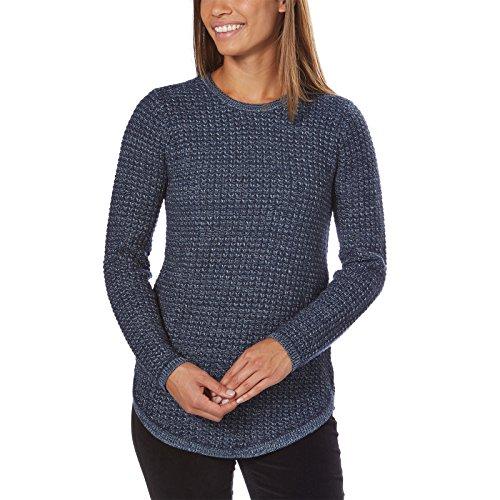 Jeanne Pierre Women's Textured Knit Sweater (Denim Combo, Large) by Jeanne Pierre (Image #2)